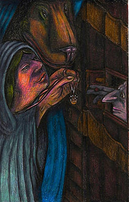 Monastery Mixed Media - The Showing Of The Hand by Al Goldfarb