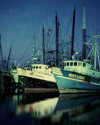 Shrimpboats Wall Art - Photograph - The Shrimp Boats Are Coming To Texas Tonight by Garry McMichael