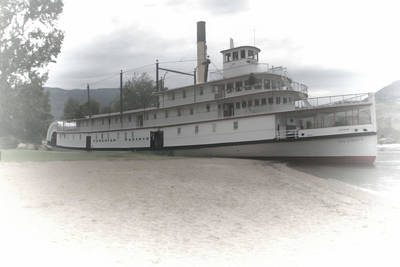 Ss Sicamous Photograph - The Sicamous by Adam Rozsa