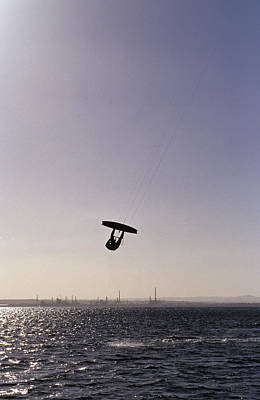 The Silhouette Of A Person Kite Art Print by Jason Edwards