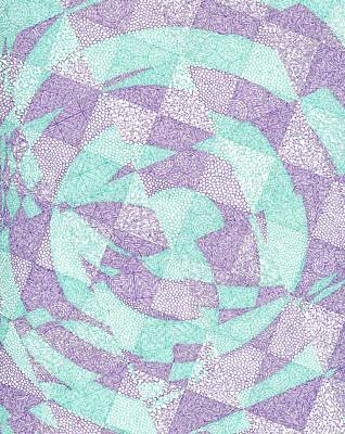 Checkered Pattern Drawing - The Singulardity by William Burns