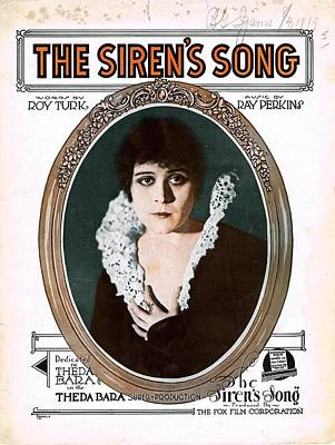 Old Sheet Music Photograph - The Siren's  Song by Mel Thompson