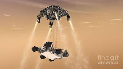 The Sky Crane Maneuver Art Print by Stocktrek Images