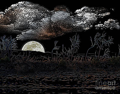 The Sky Is Low Art Print by Rhonda Strickland