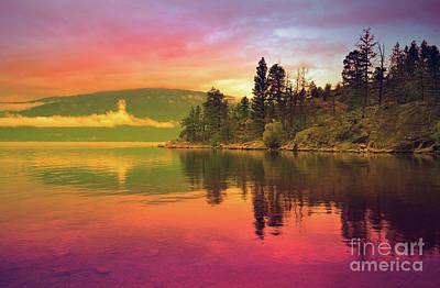 Okanagan Lake Photograph - The Sky Paints The Morning by Tara Turner