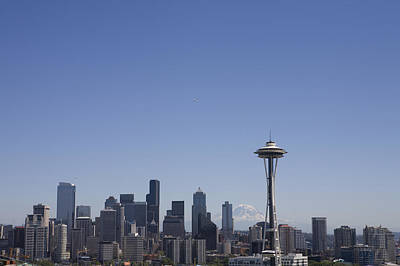 The Skyline Of Seattle On A Sunny Art Print by Taylor S. Kennedy