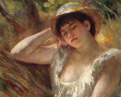 The Sleeper Art Print by Pierre Auguste Renoir