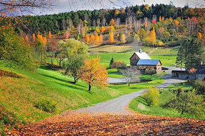 Pomfret Photograph - The Sleepy Hollow Farm Of Pomfret by Thomas Schoeller