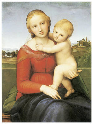 The Small Couper Madonna Art Print by Raffaello Sanzio