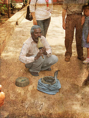 Snake Charmer Photograph - The Snake Charmer by Paul Ward