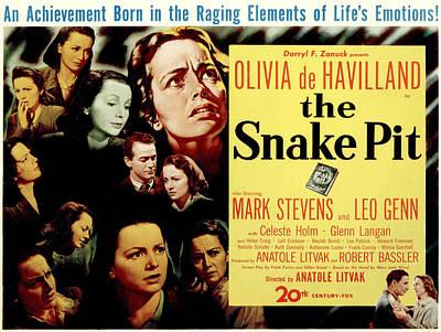 Posth Photograph - The Snake Pit, Olivia De Havilland by Everett