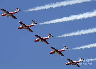 Photograph - The Snowbirds Flyby by Bob Christopher