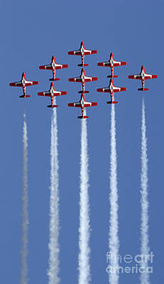 Photograph - The Snowbirds Going Vertical by Bob Christopher