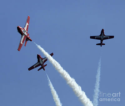 Photograph - The Snowbirds Having A Blast by Bob Christopher