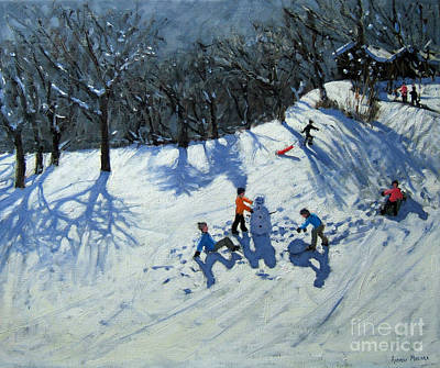 Nostalgia Painting - The Snowman  by Andrew Macara