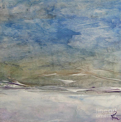 Cold Temperature Painting - The Snowy Landscape by Dragica  Micki Fortuna