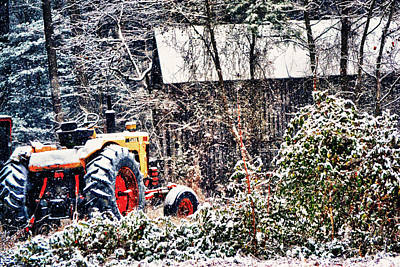 Photograph - The Snowy Tractor by Kelly Reber