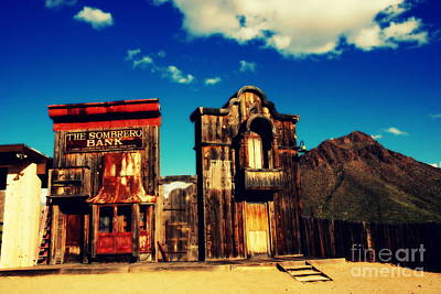 The Sombrero Bank In Old Tuscon Arizona Print by Susanne Van Hulst
