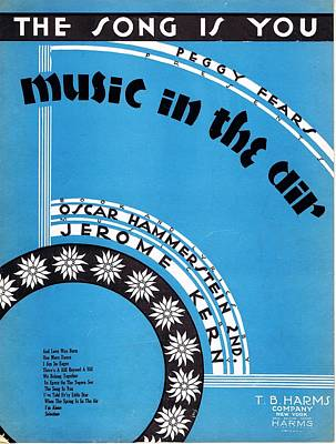 Old Sheet Music Photograph - The Song Is You by Mel Thompson