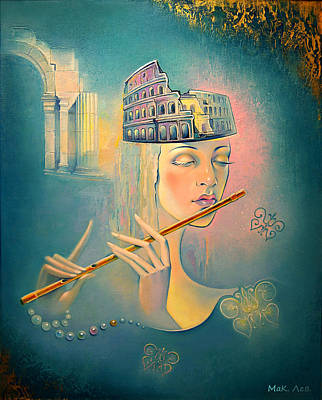 The Song Of The Forgotten Gods Art Print by Elena  Makarova-Levina