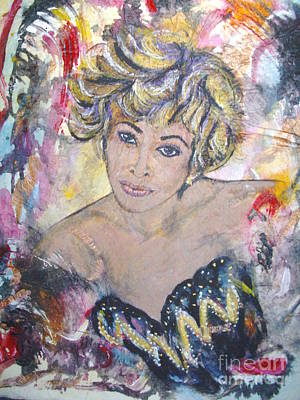 Tina Turner Painting - The Soul Queen Tina Turner by Jocelyne Beatrice Ruchonnet