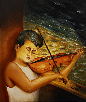One Person Painting - The Sound Of Music by Itzhak Richter