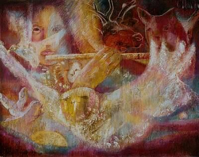 Painting - The Sound That Gathers All To The One by Pamela Mccabe