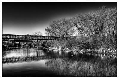Photograph - The South Platte Bridge Reflected by David Patterson
