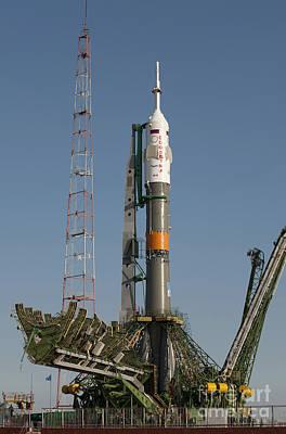 The Soyuz Rocket Shortly After Arrival Art Print by Stocktrek Images