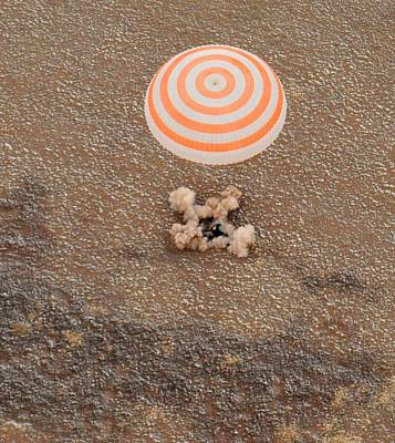 The Soyuz Space Craft Carrying Art Print