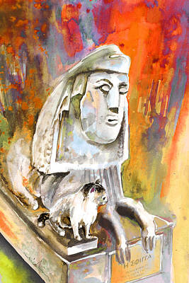 Larnaca Painting - The Sphinx Of Petraion by Miki De Goodaboom