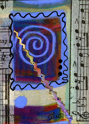 Mixed Media - The Spiral Pane by Angela L Walker