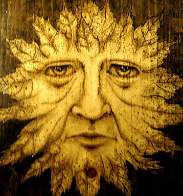 Pyrography Pyrography - The Spirit Face  by Keven Shaffer