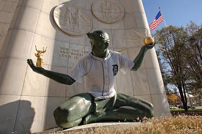 The Spirit Of Detroit Tigers Print by Gordon Dean II