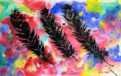 Painting - The Spirit Of Eagle Feathers by Alethea McKee