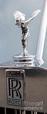 Photograph - The Spirit Of Ecstasy Hood Ornament   -    Rolls-royce Silver Cloud by Lee Dos Santos