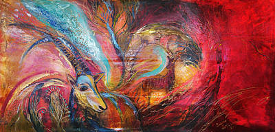 The Spirit Of Ein Gedi Art Print by Elena Kotliarker