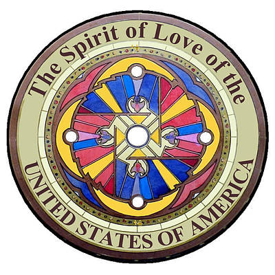 The Spirit Of Love Of The United States Of America Art Print