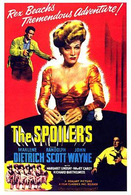 Bouffant Photograph - The Spoilers, John Wayne, Marlene by Everett