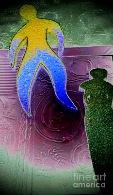 Digital Art - The Sponge People Meet Molding Paste by Angela L Walker