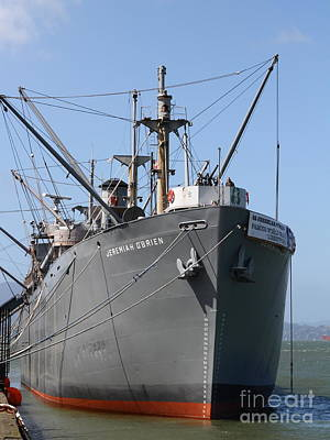 Battle Ship Photograph - The Ss Jeremiah Obrien Liberty Ship At Fishermans Wharf . San Francisco California . 7d14431 by Wingsdomain Art and Photography