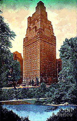 Painting - The St. Moritz Hotel In New York City In The 1930's by Dwight Goss