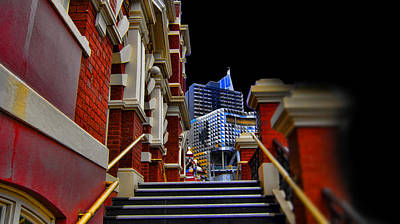 The Stairs To Higher Education Art Print by Douglas Barnard