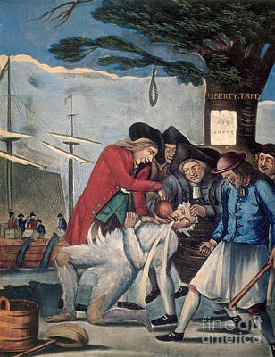 The Stamp Act Protests, 1774 Art Print