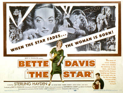 The Star, Bette Davis, Sterling Hayden Art Print by Everett