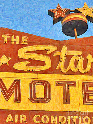 Photograph - The Stars Motel by Wingsdomain Art and Photography