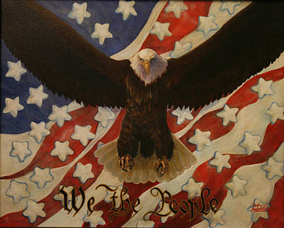 4th Of July Painting - The Stars Of America by Ruth Ann Murdock