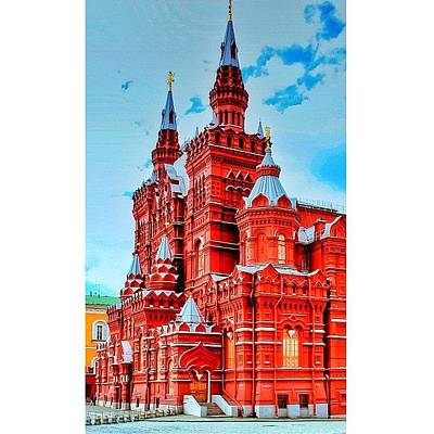 The State Historical Museum (russian: Art Print by Tommy Tjahjono