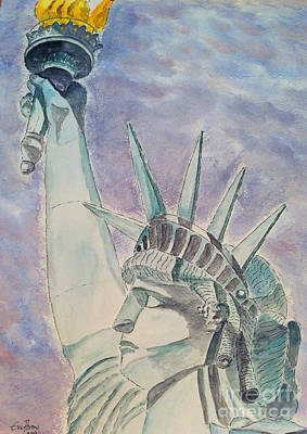 Painting - The Statue Of Liberty by Eva Ason