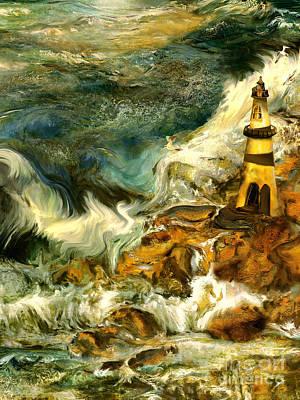 The Steadfast Lighthouse Art Print by Anne Weirich